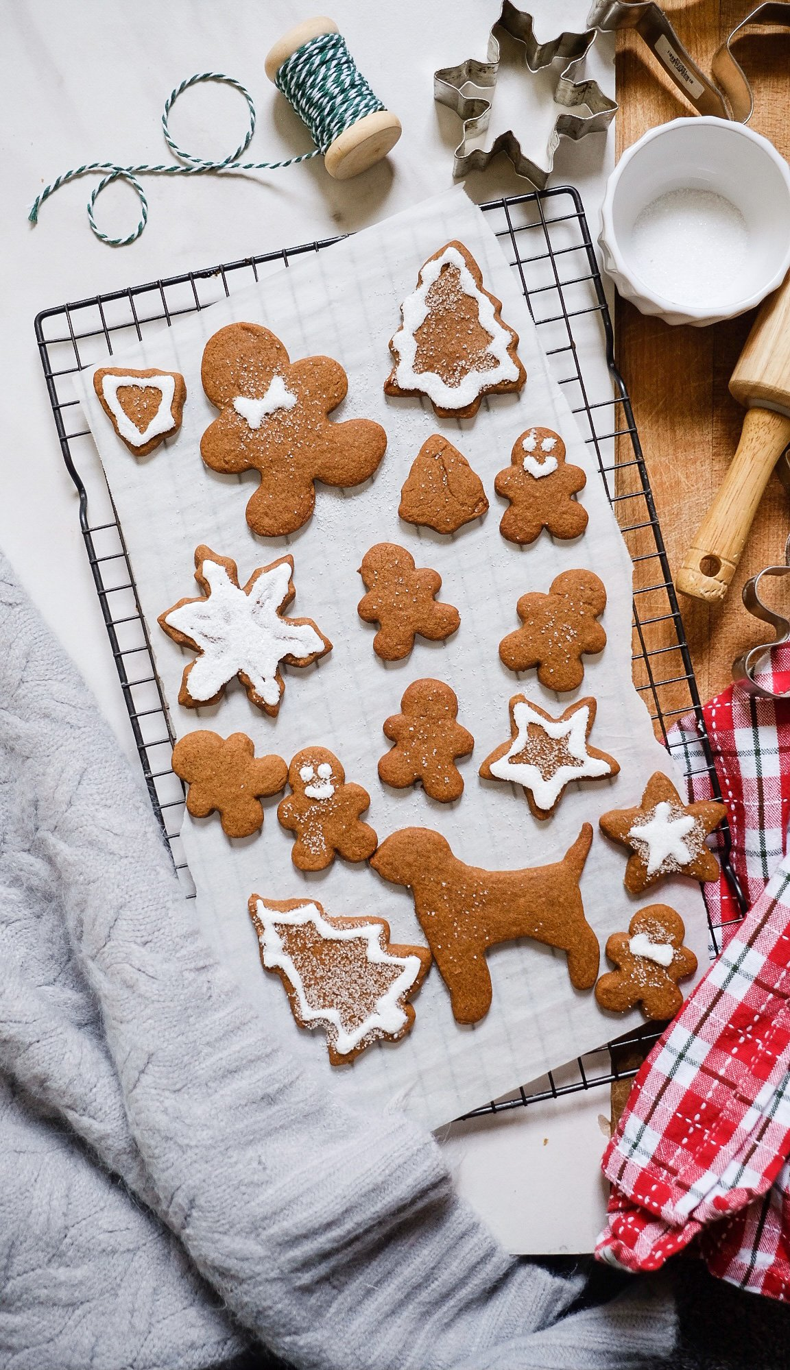 Lifestyle Blog Chocolate and Lace shares recipe for the best gingerbread cookies for cut out shapes.