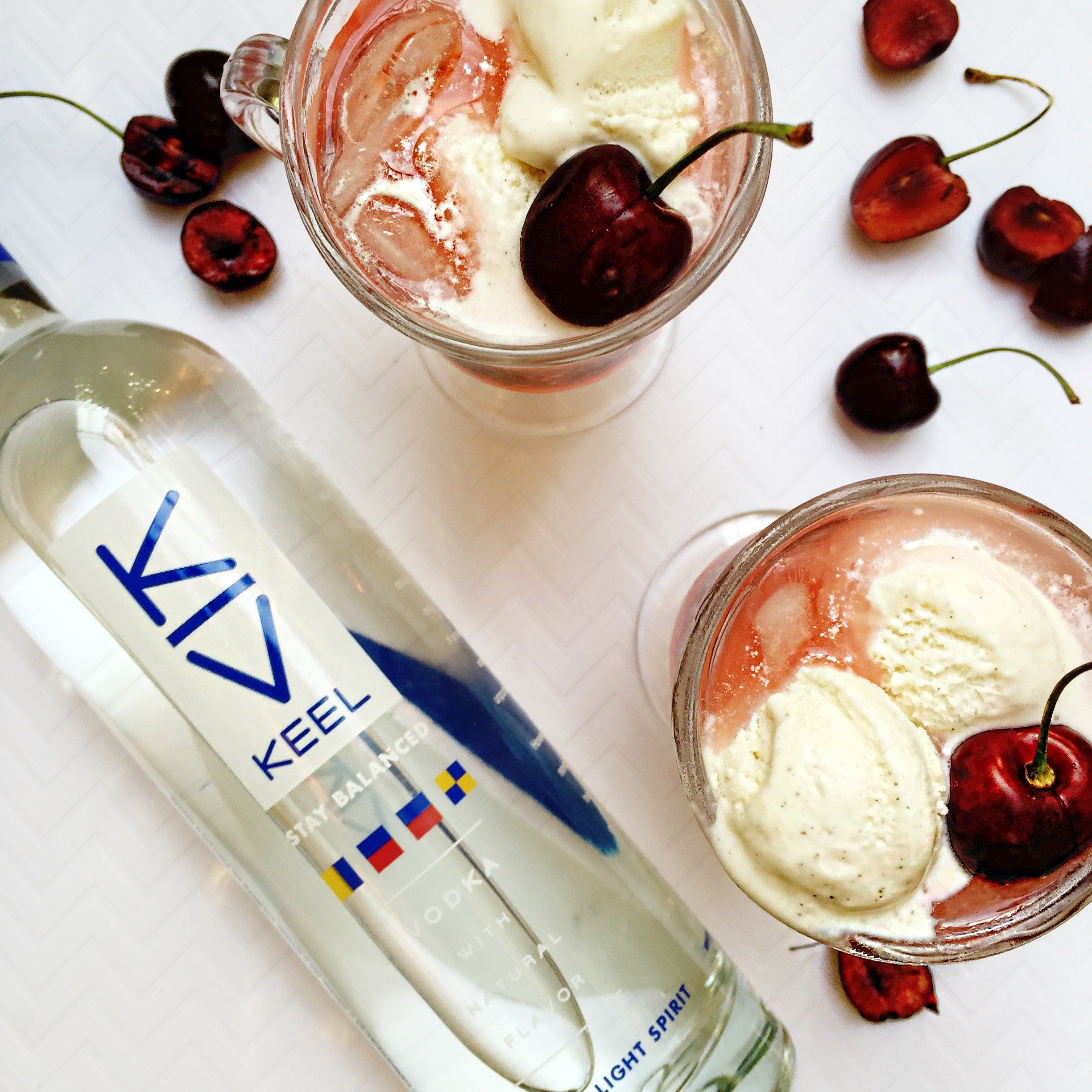 Cherry Floats with KEEL Vodka