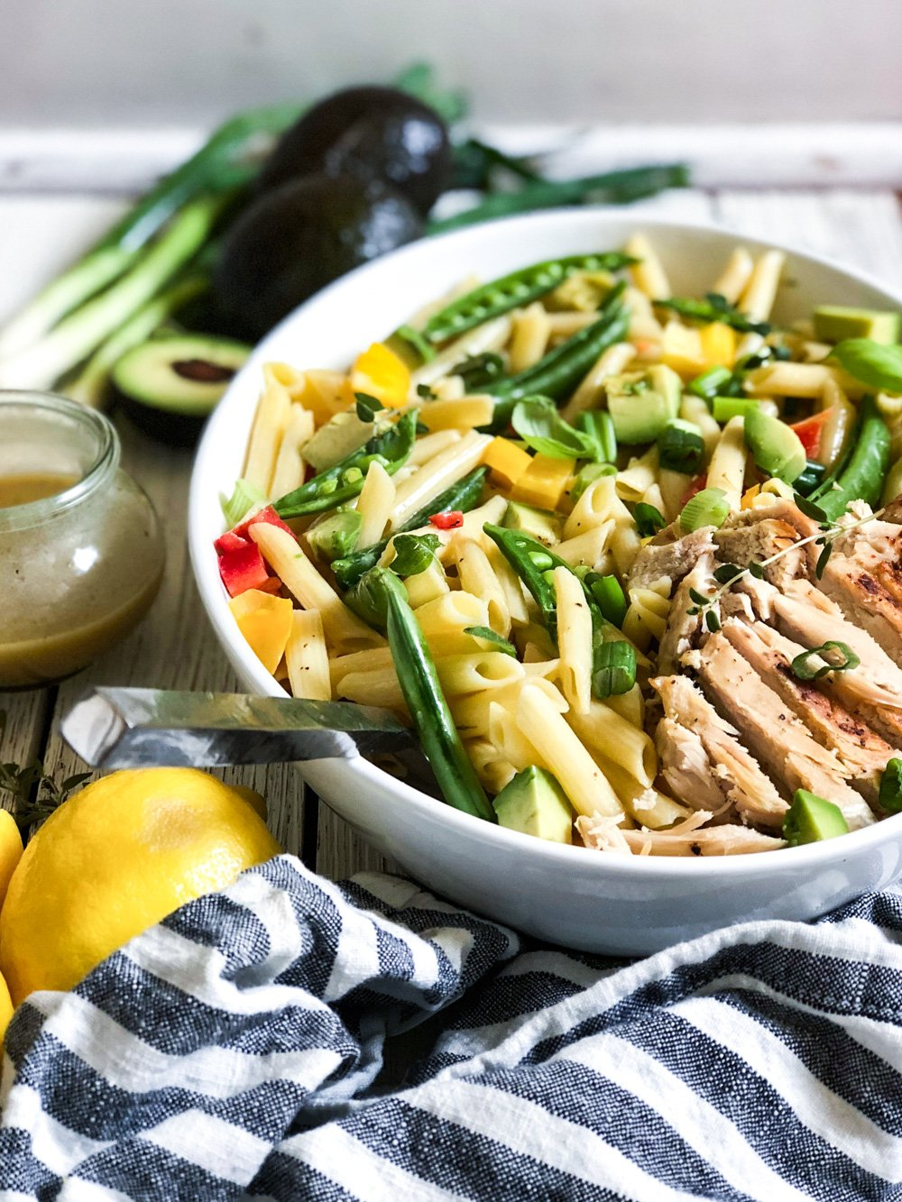 Lifestyle Blogger Chocolate and Lace shares her recipe for Avocado and Honey Dijon Pasta Salad.