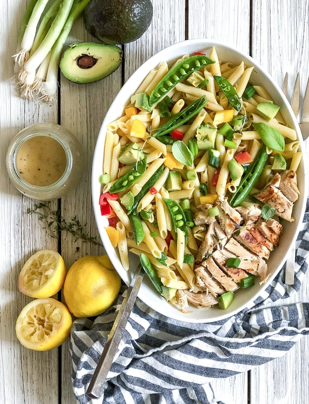 Lifestyle Blogger Chocolate and Lace shares her recipe for Avocado and Dijon Pasta Salad.