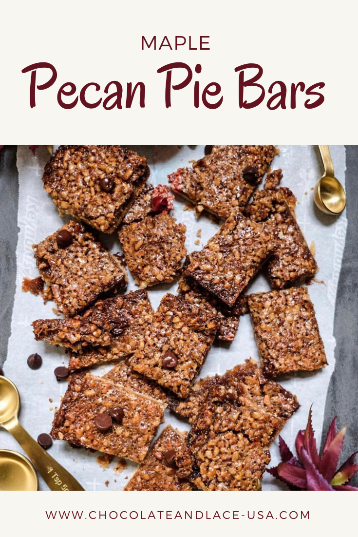 Chocolate and Lace shares her recipe for Pecan Pie Bars.