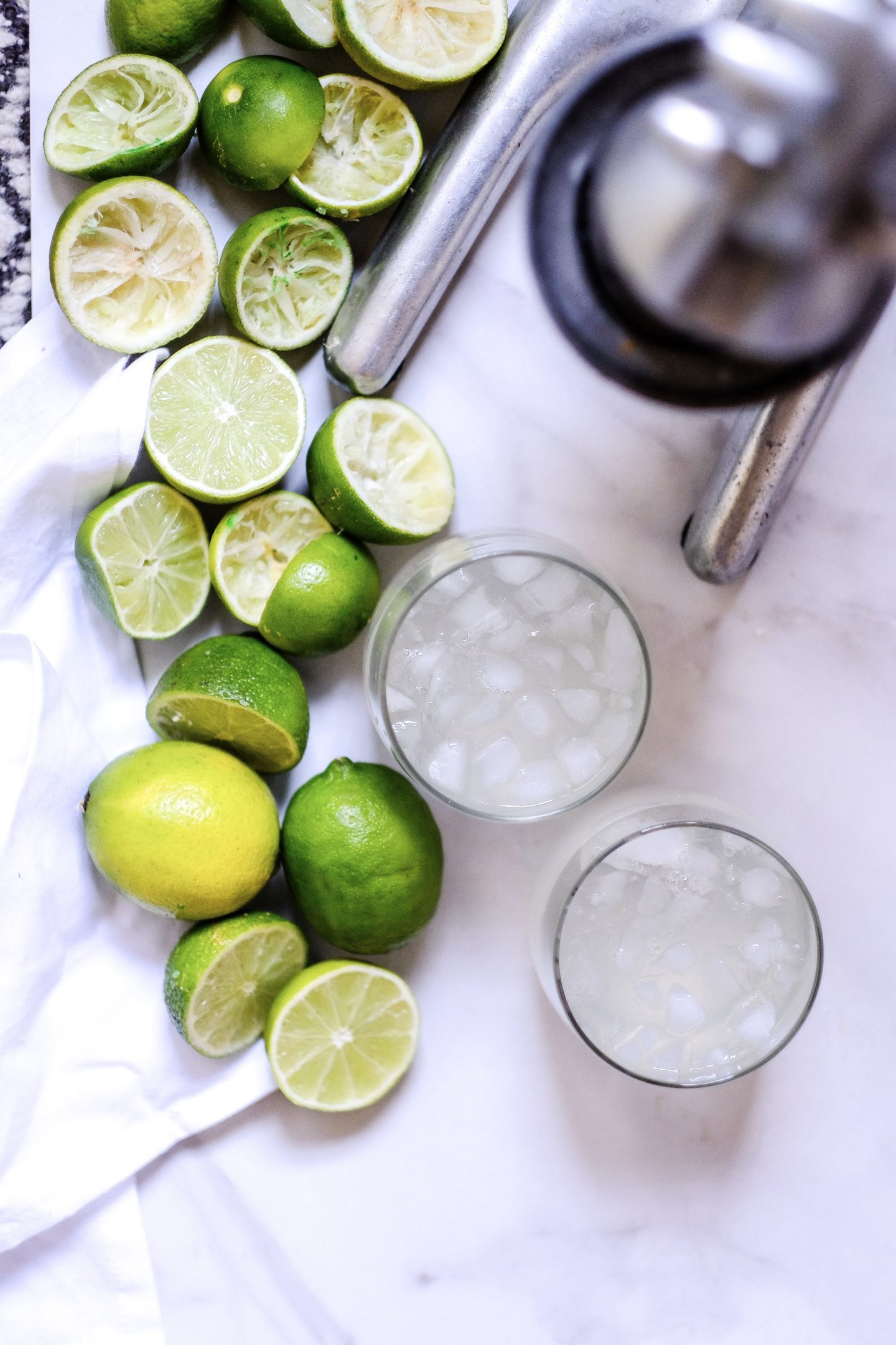Lifestyle Blogger Jenny Meassick of Chocolate and Lace shares her recipe for Fresh Squeezed Limeade