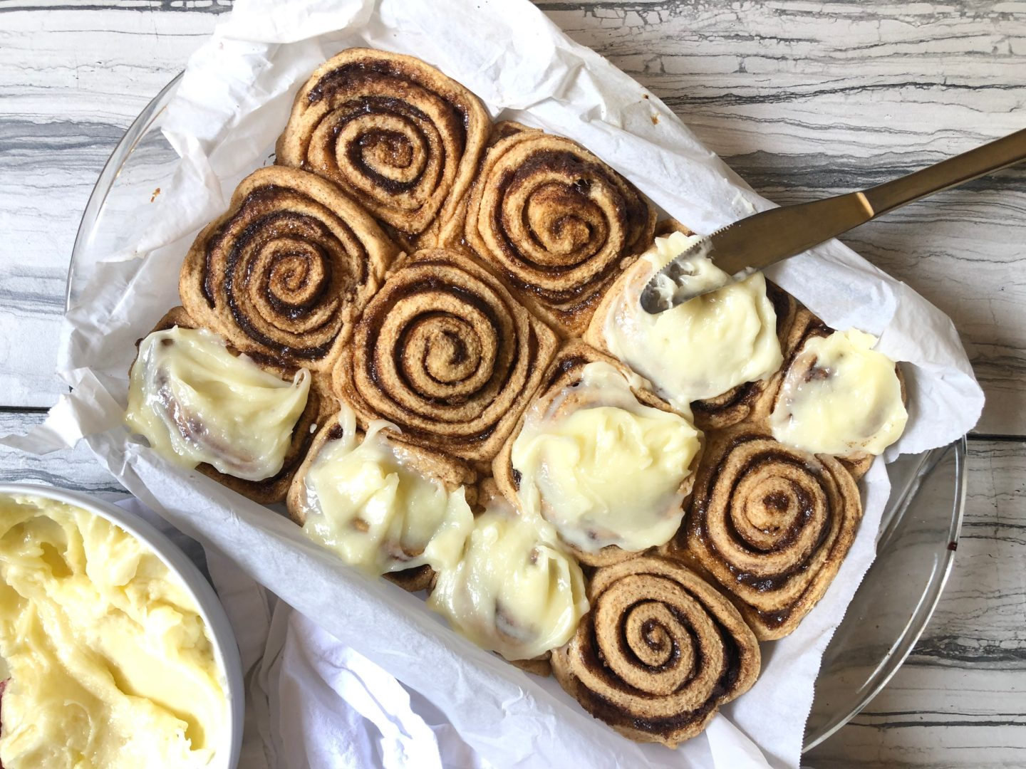 Lifestyle Blogger Chocolate & Lace shares her recipe for Cream Cheese Frosted Cinnamon Rolls.