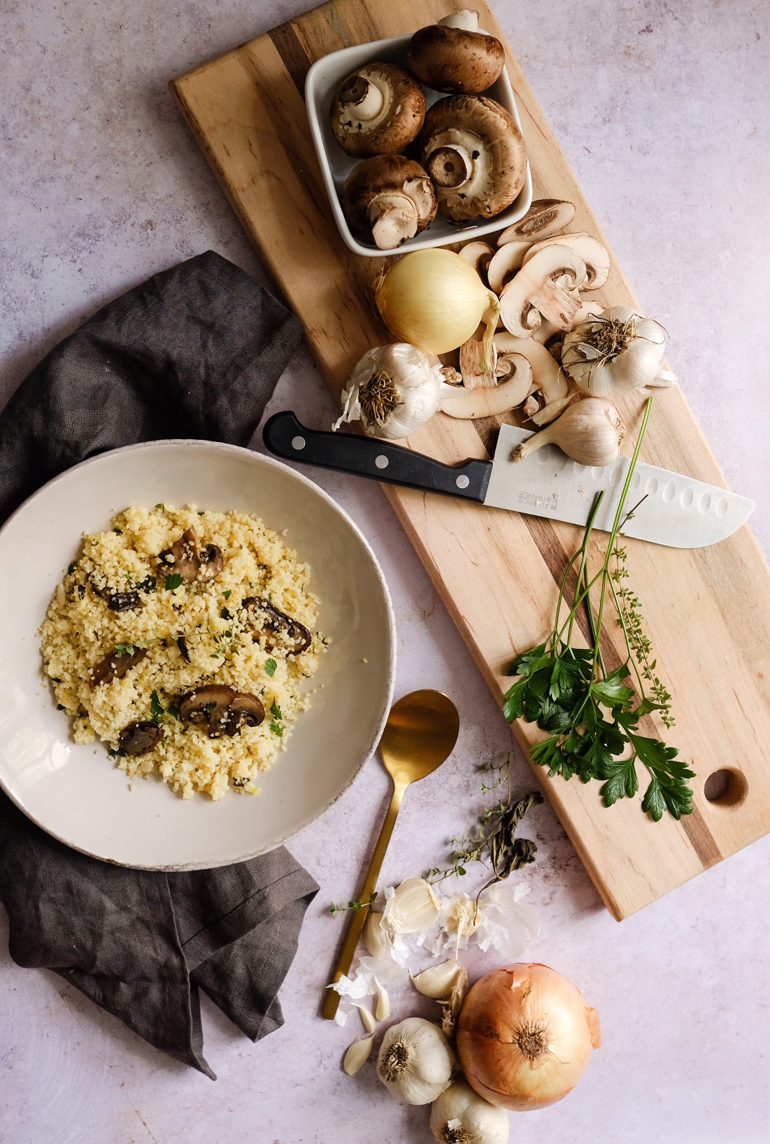 The Best Mushroom Herb Couscous